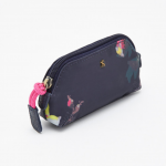 Joules Canvas Floral Coin Purse Navy