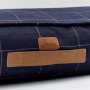 Joules Cosywell Navy Checked Dog Bed