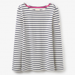 Joules Harbour Jersey Top Cream and Black Stripe