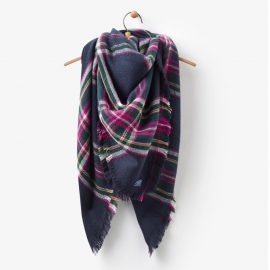 Joules Large Heyford Scarf French Navy Check