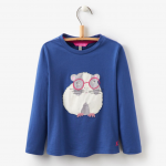 Joules Girls Ava Guinea Pig Jersey Top