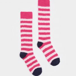 Joules Fab Fluffy True Pink Socks