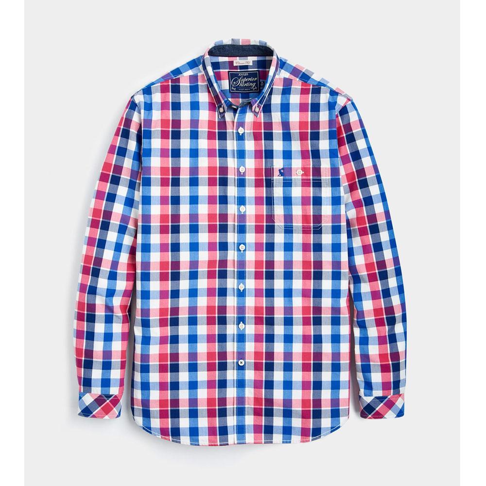 Joules Hewney Deep Raspberry Gingham Shirt 1