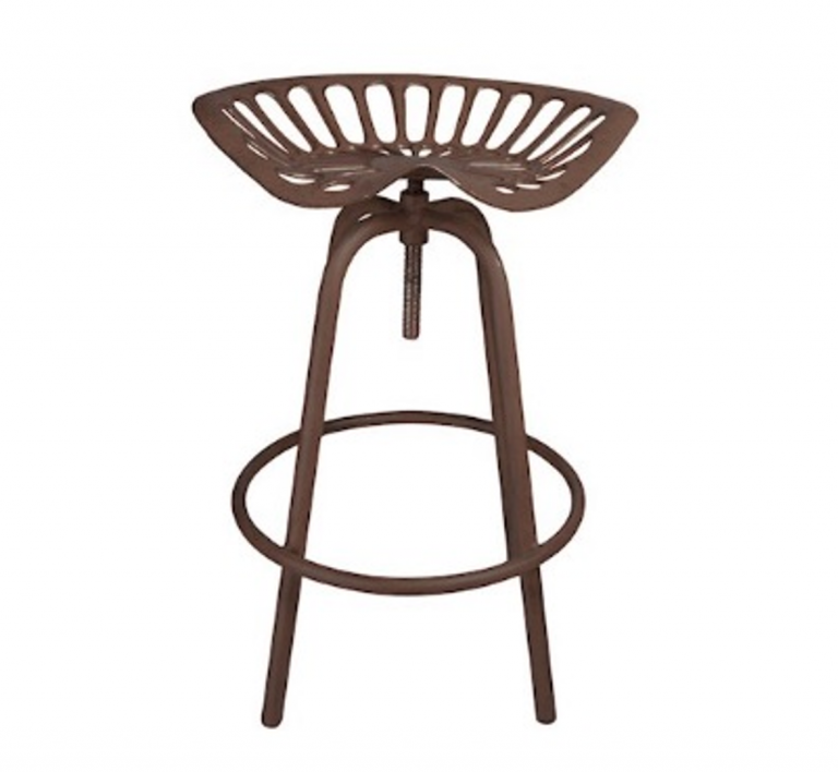 Rustic Tractor Seat Stool