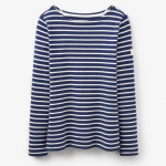 Joules Harbour Navy Hope Stripe Jersey Top