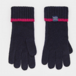 Joules French Navy Knitted Gloves