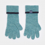 Joules Soft Teal Knitted Gloves