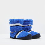 Joules Padabout Boys Blue Stripe Slippers