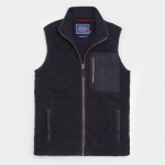 Joules Peak Diamond Quilted Fleece Gilet Marine Navy