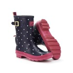 Joules Molly navy spot wellies