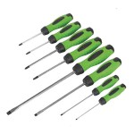 Sealey Hammer-Thru 8 piece Screwdriver Hi-Vis Set