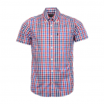 Barbour Russell Short Sleeved Shirt Red