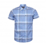 Barbour Russell Short Sleeved Shirt Blue