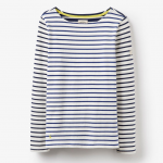 Joules Harbour Soft Navy Stripe Jersey Top