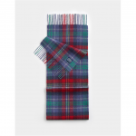 Joules Thytherton Red Check Wool Scarf
