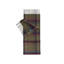 Joules Thytherton Olive Check Wool Scarf