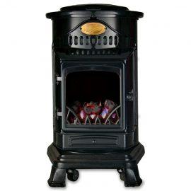 Provence Portable Gloss Black Gas Heater
