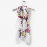 Joules Wensley Longline Cream Floral Scarf